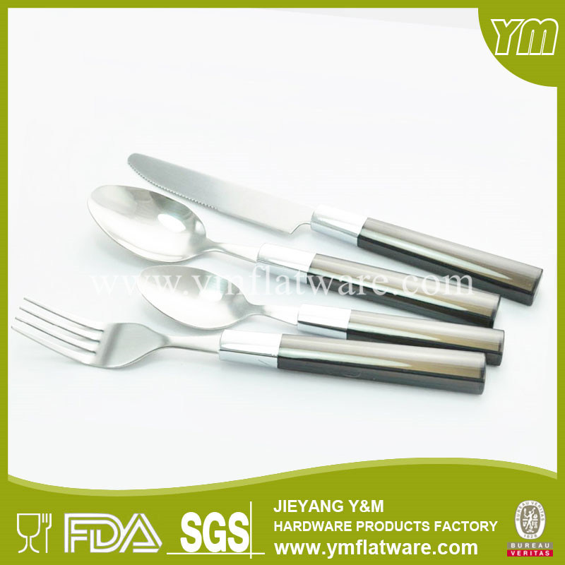 Simple Delicate Design Stainless Steel Plastic Handle Cutlery
