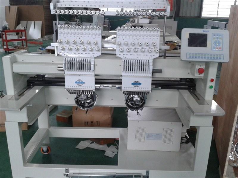 2 Heads Tubular Embroidery Machine