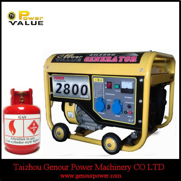 Long Run Time China 2.5kw Zongshen Compressed Natural Gas Generator