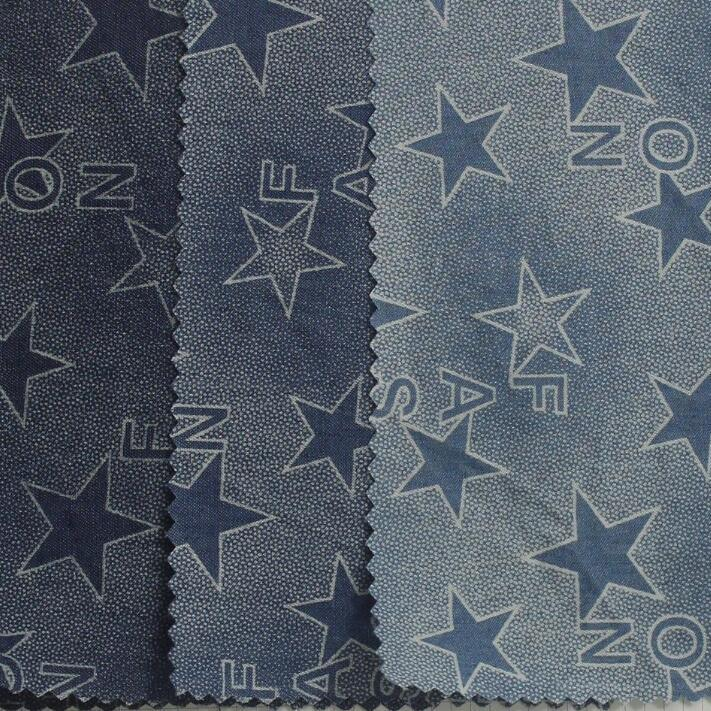 Twill Printed Knitted Denim Fabric for Women′s Clothes