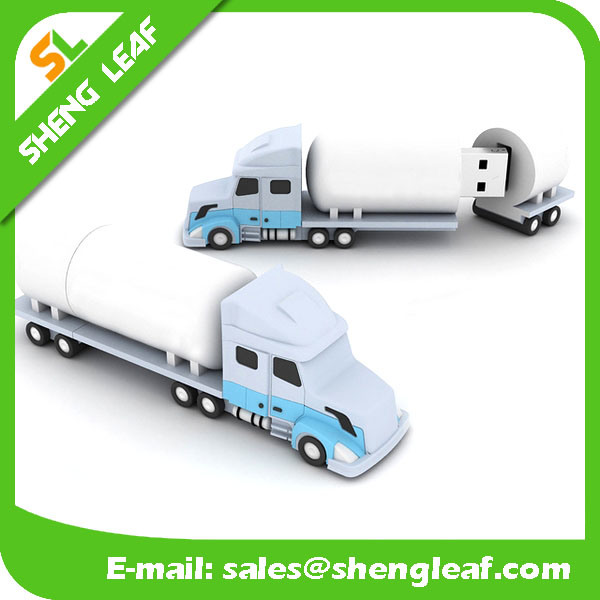 Hot Sale 3D Rubber Customized Logo USB Flash Drive (SLF-RU009)