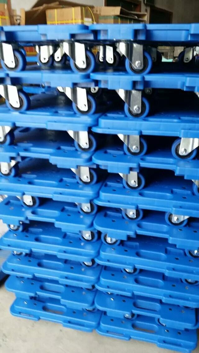 150kgs Blue Platform Turtle Trolley Industrial Pallet Hand Truck