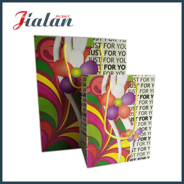Custom Size Different Design Logo Cheap Printed Paper Garments Bag