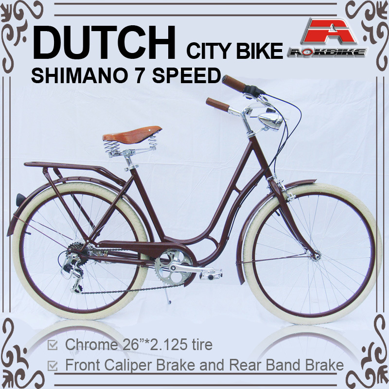 26 Inch 7 Speed Oma Dutch Bicycle Lady City Bike for Lady (ARS-2602S)