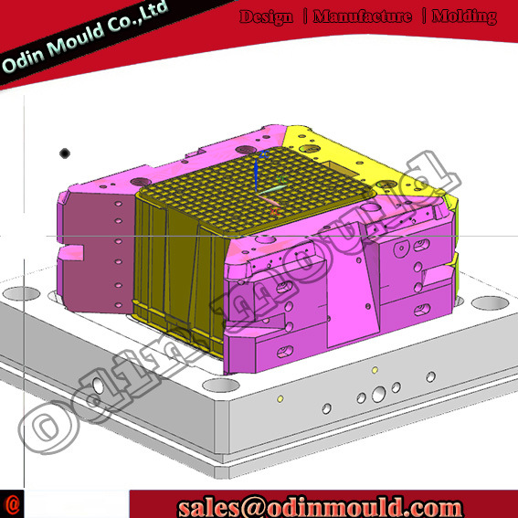 Food/Beverage Packaging Crate Plastic Injection Mold