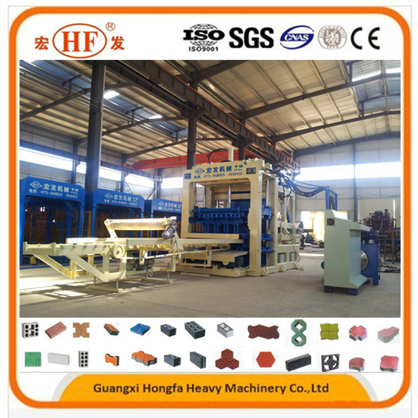 Qt10-15 Cement Concrete Hollow Block Making Machine, Brick Production Line