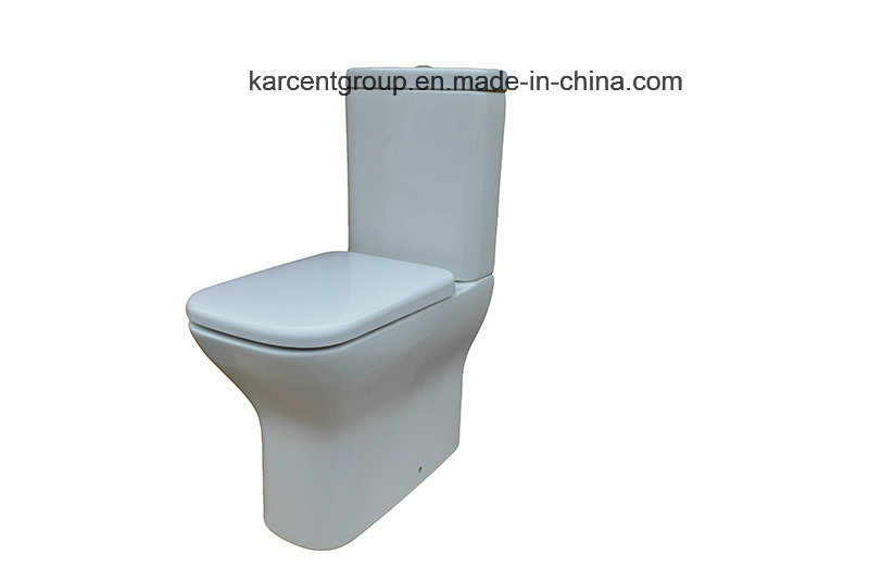 Two Piece Ceramic Toilet Ce Certification Washdown Water Closet 00115