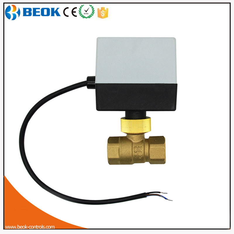 Brass Motorized Valve Dn20 Floor Heating Type Valve