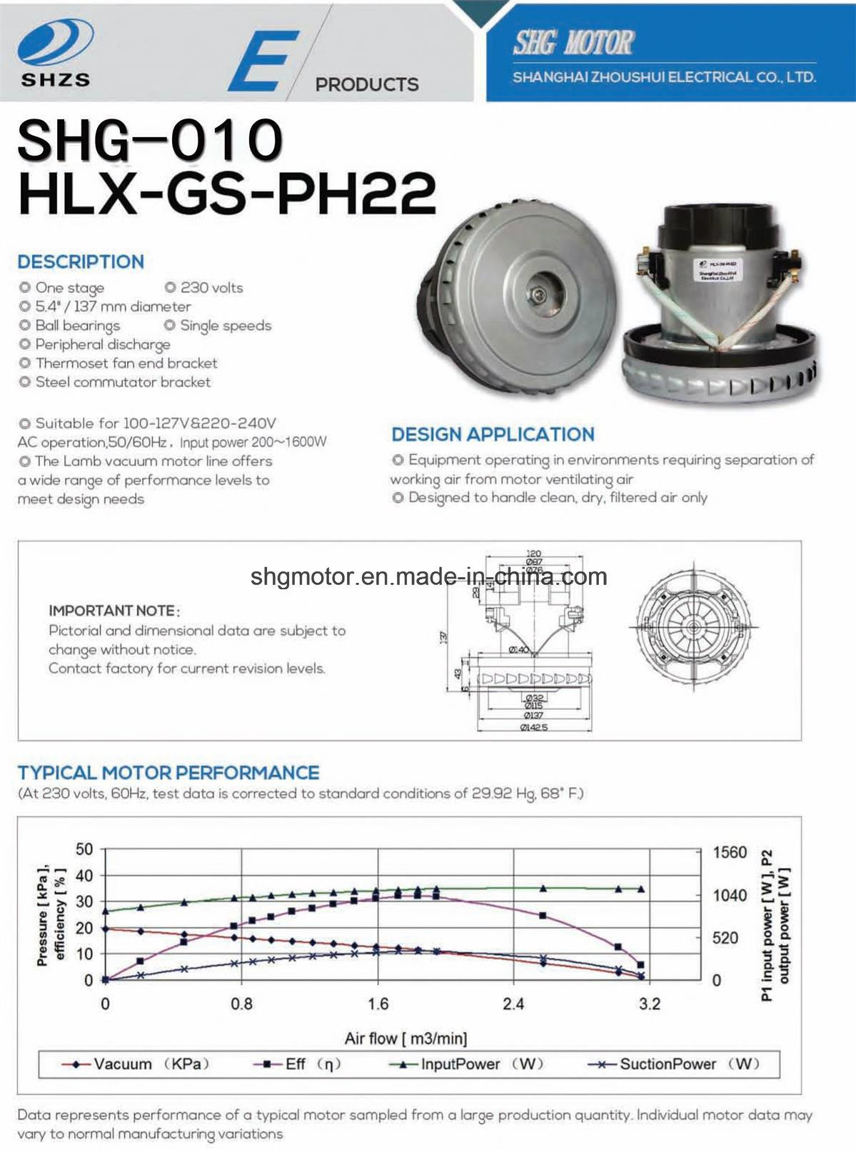 Huge Quantity Vacuum Cleaner Motor (SHG-010)