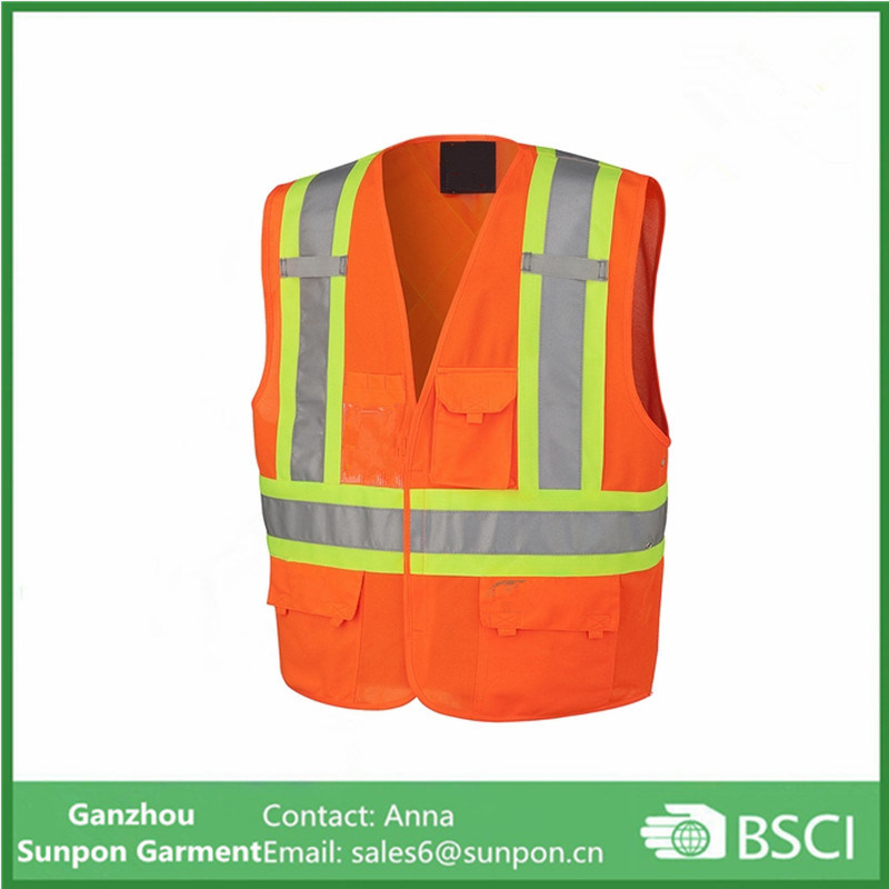 High Visibility Polyester Class 2 Level 2 Safety Vest