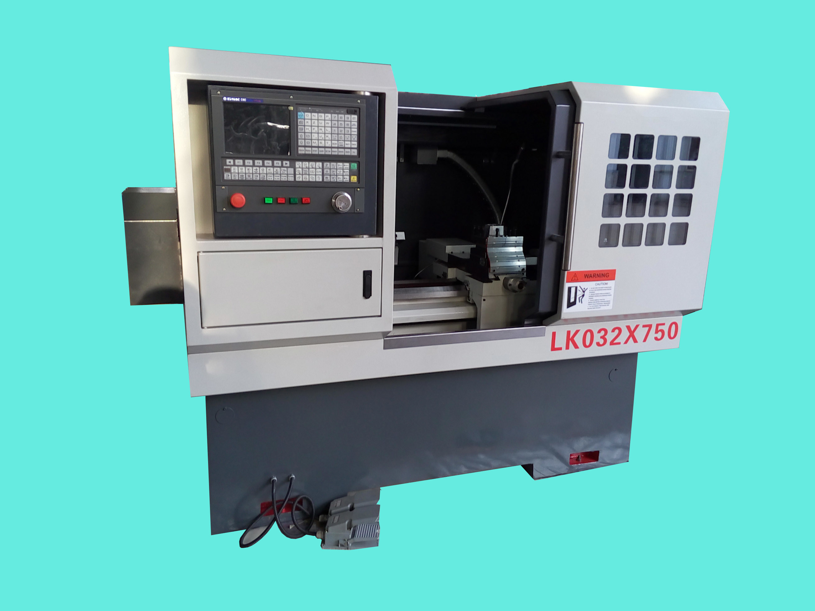 CNC Lathe with Flat Bed and Hardened Rail Ek6132X1000