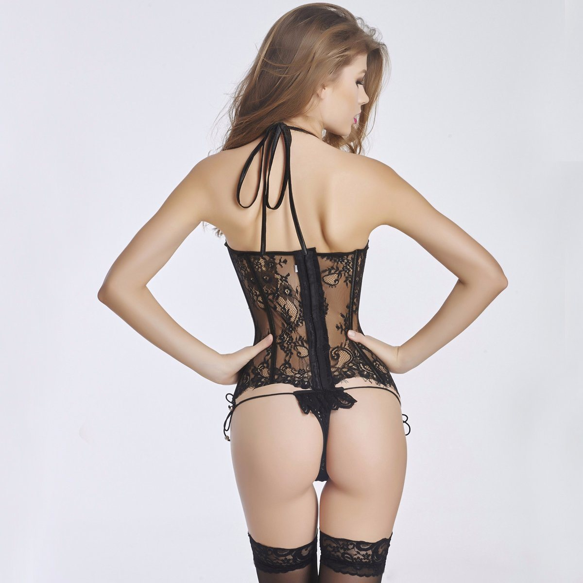 Women′s Sexy Waist Cincher Corset Lingerie with Garter Belt