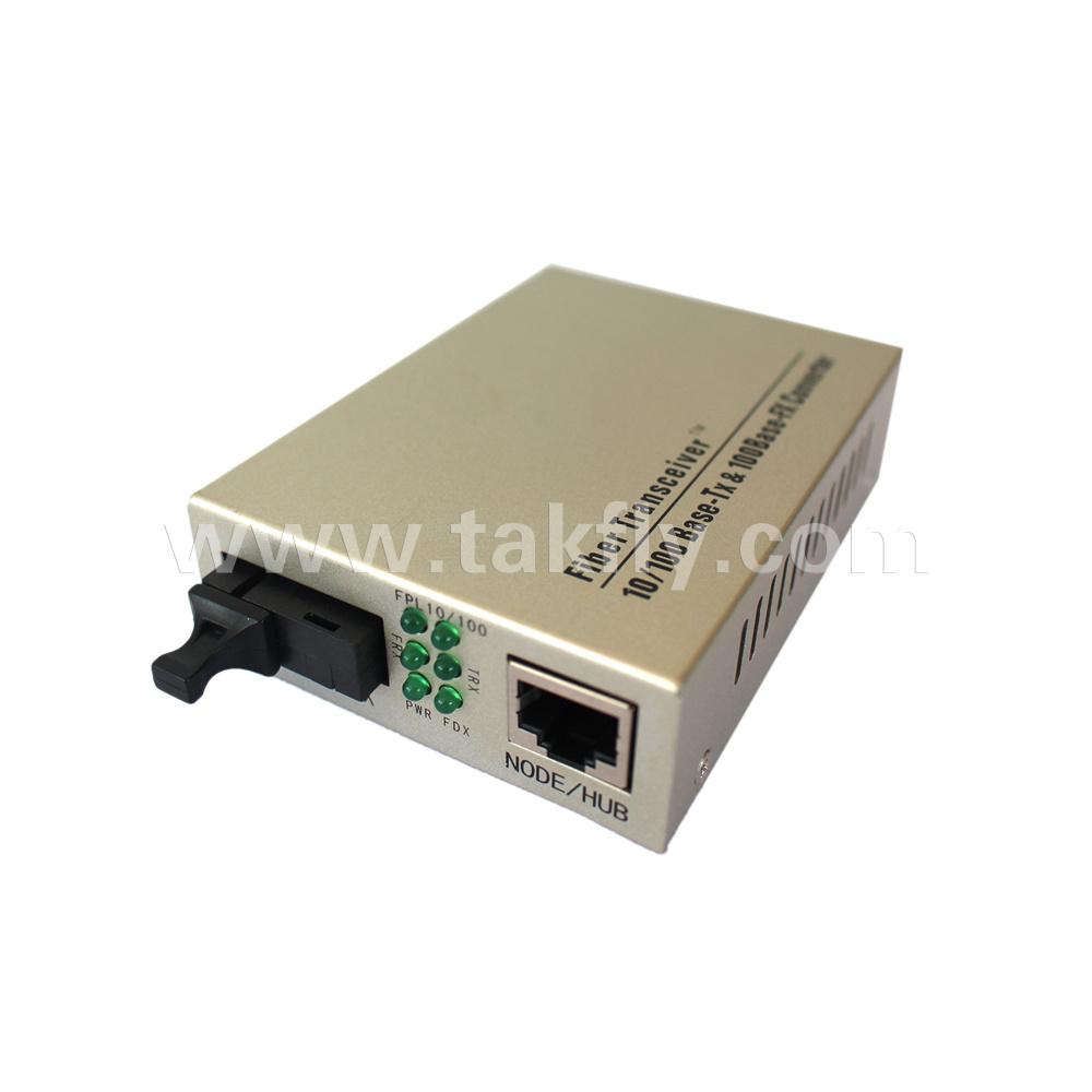 10/100base-Tx to 100base-Fx Singlemode Duplex Sc Unmanaged Fiber Media Converter