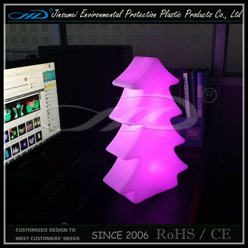 Christmas Tree LED Table Lamp Made of Poly Ethylene Material