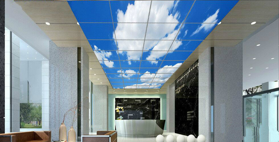 Ultra Thin 40W Flat Ceiling Light Scenery Picture LED Panel for Home Decorate