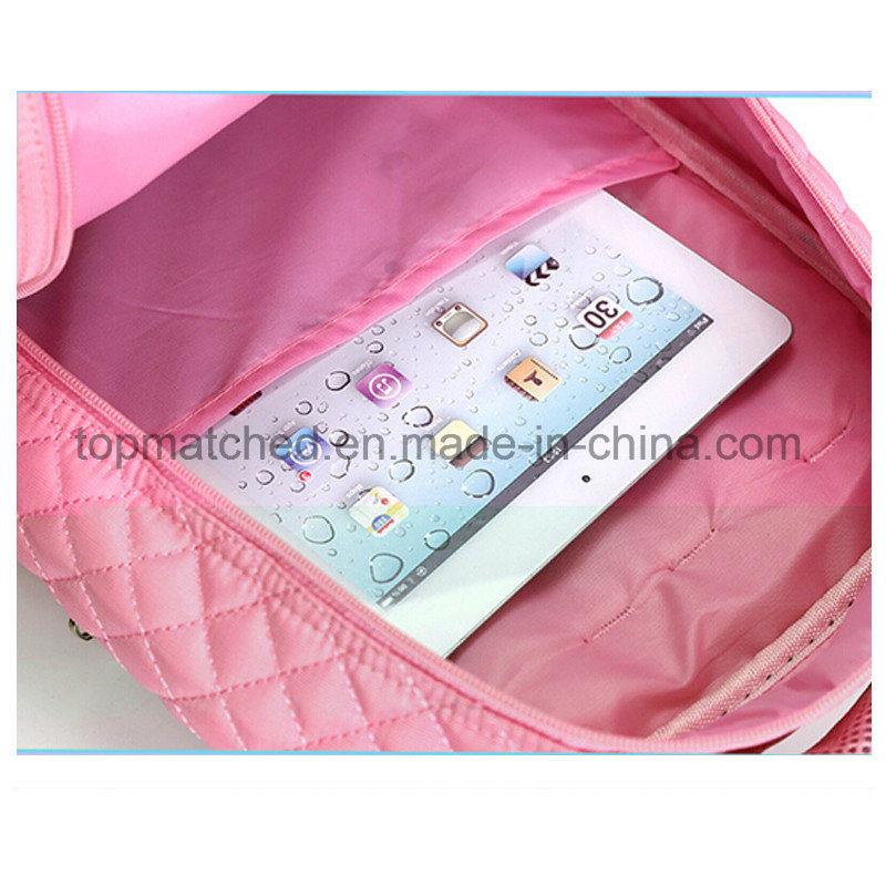 New Bowknot Design School Backpack Mutiple Pockets Wheeled Trolley School Bag