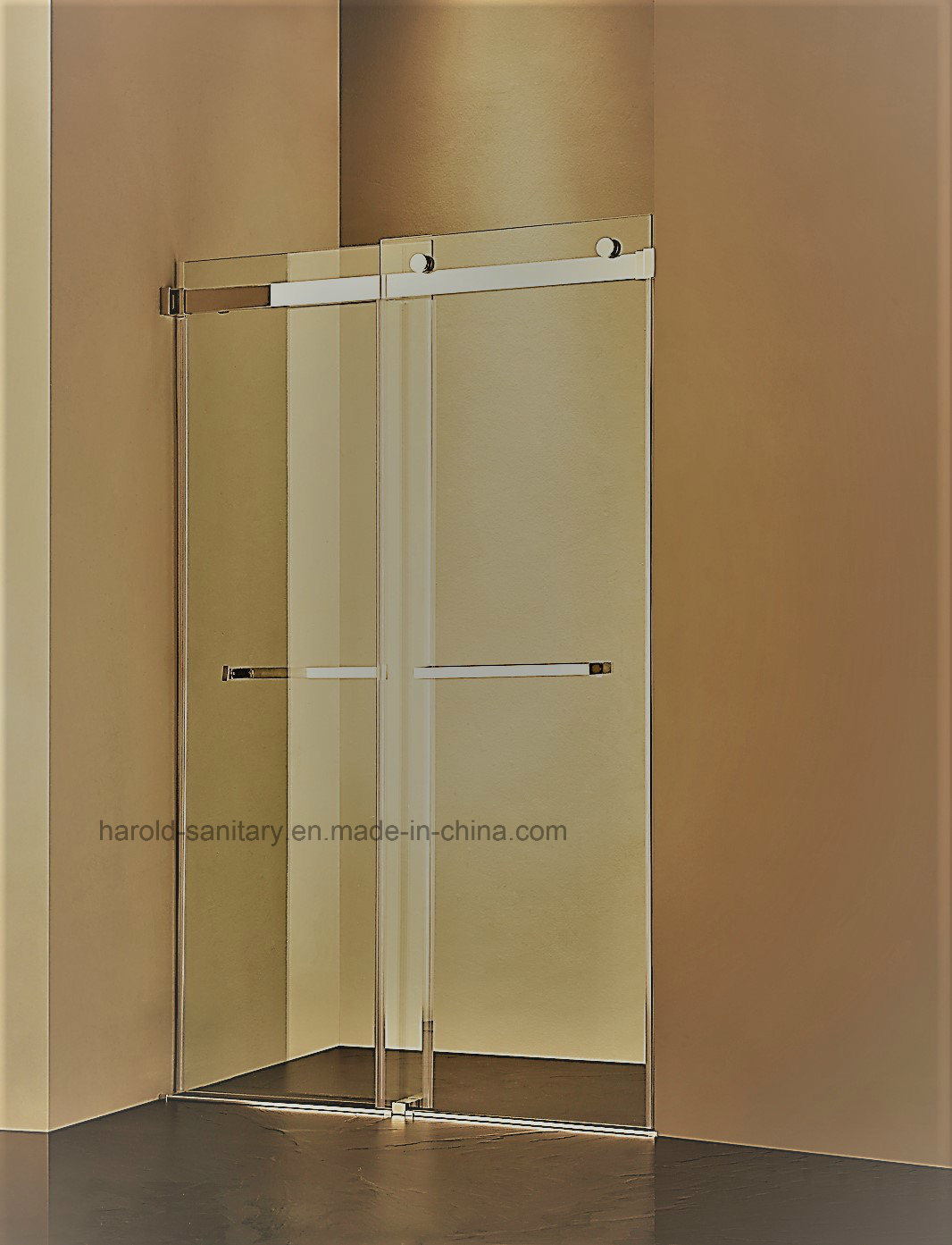 Hr-022-D Frameless Double Sliding Shower Door