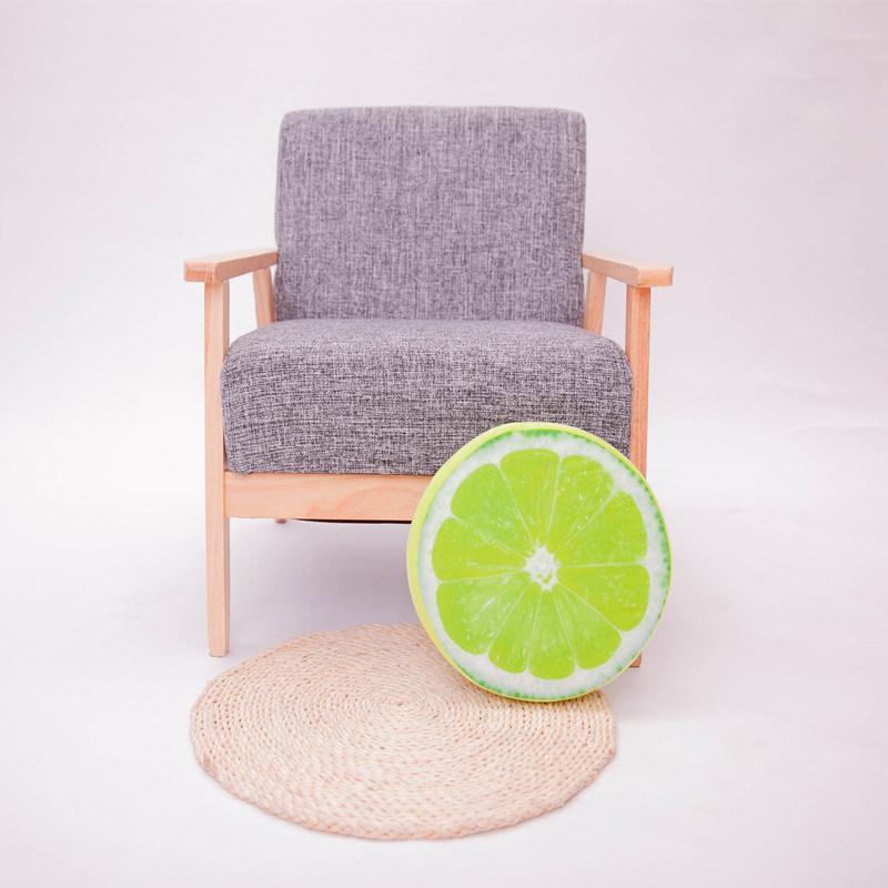 Fruit Style Round Throw Decorative Pillow