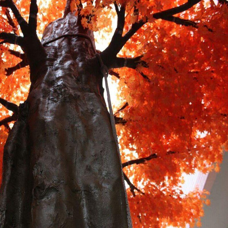 Dongguan Wholesale Fiberglass Real Trunk Evergreen Fake Artificial Maple Tree