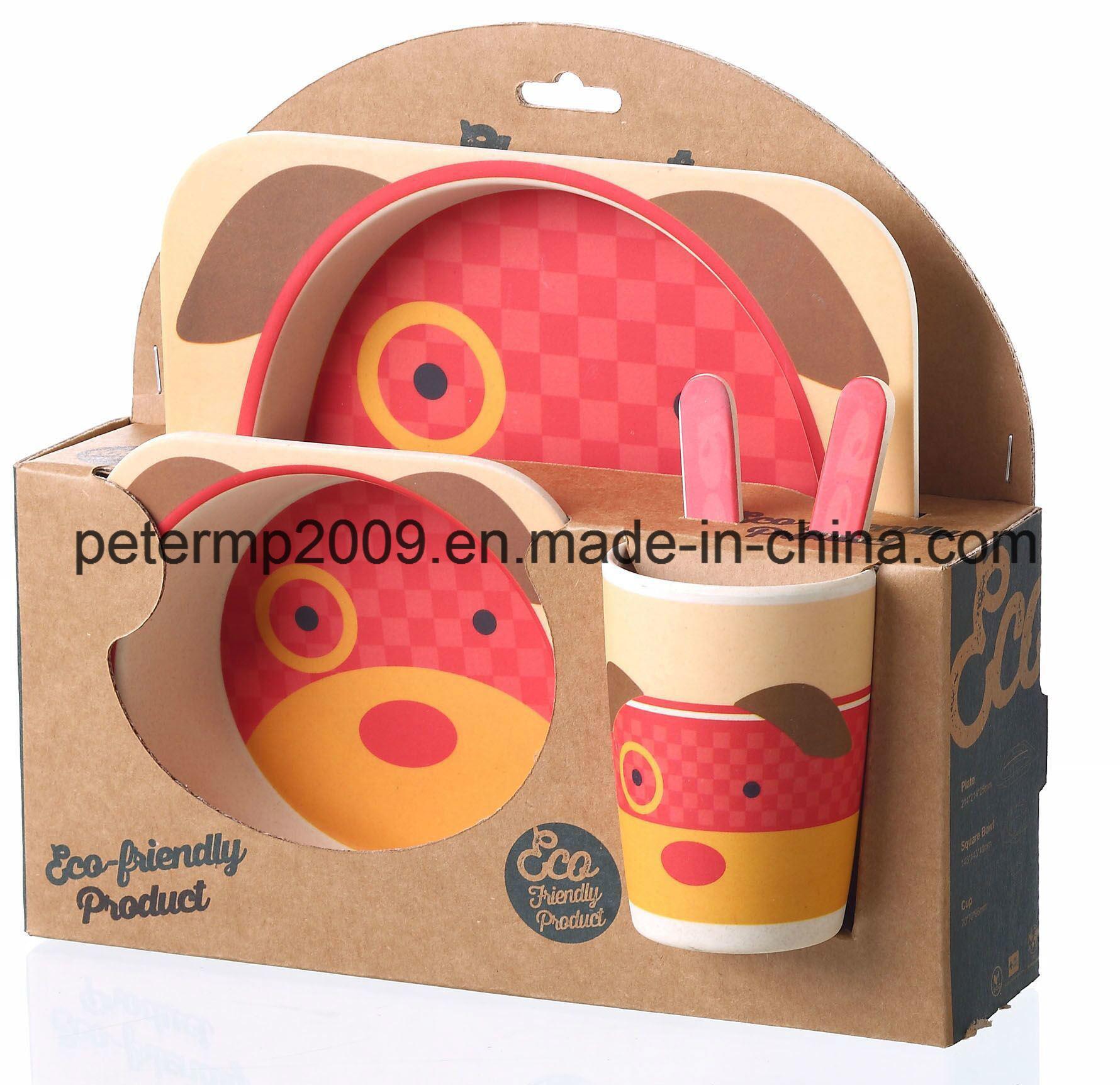BPA Free Bamboo Fiber Dinner Set for Kids