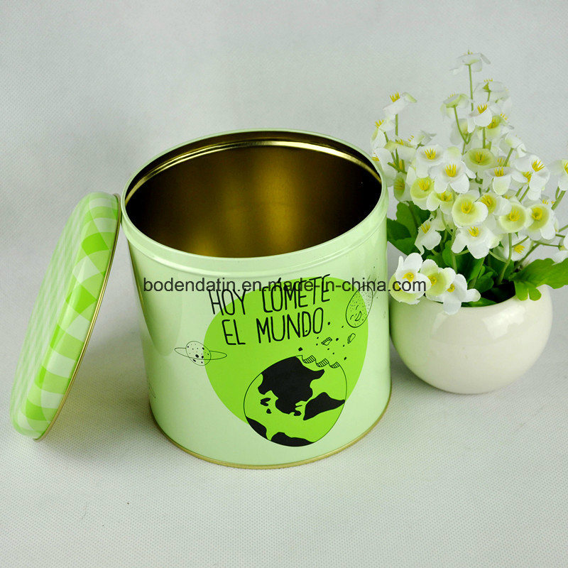 Custom Round Coffee Tin Can with Airtight Lid