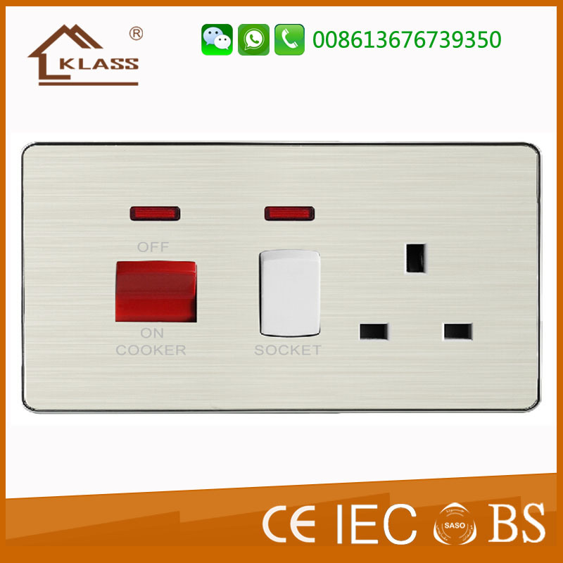 45A Switch Kitchen Cook Switch with Neon