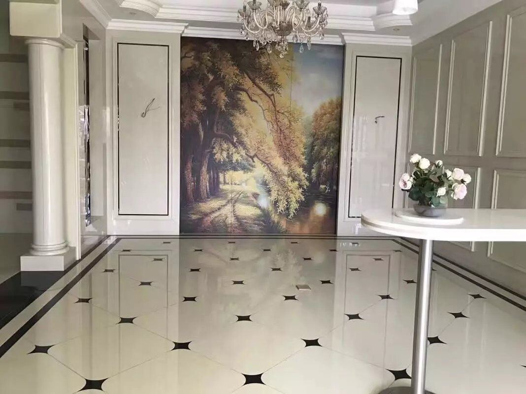 Home Decoration Water-Jet Floor Tile Nano Glass Stone Panel