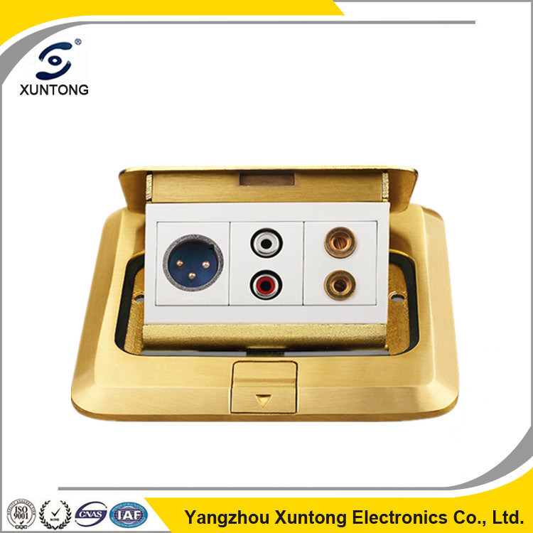 Electrical Outlet Type Floor Mulitimedia Socket