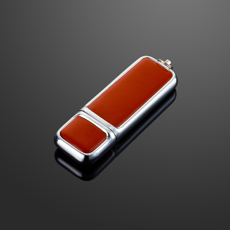 Leather USB Flash Drive with Embossed Logo