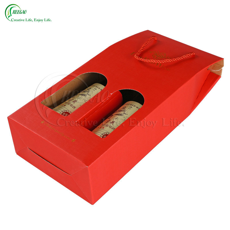 Custom Wine Gift Box with Logo Printing (KG-PX072)