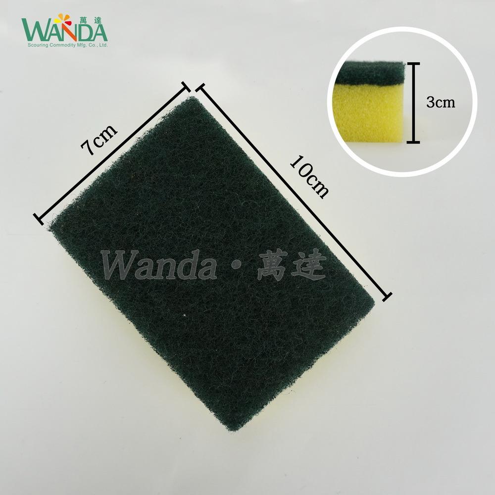 Kitchen Cleaning Polyurethane Sponge Scrubber Scrub Pad for Washing Dishes