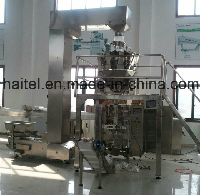 Full-Automatic Vertical Packing Machine with 10heads Combination Weigher for Photo Chips, Nuts, Candy