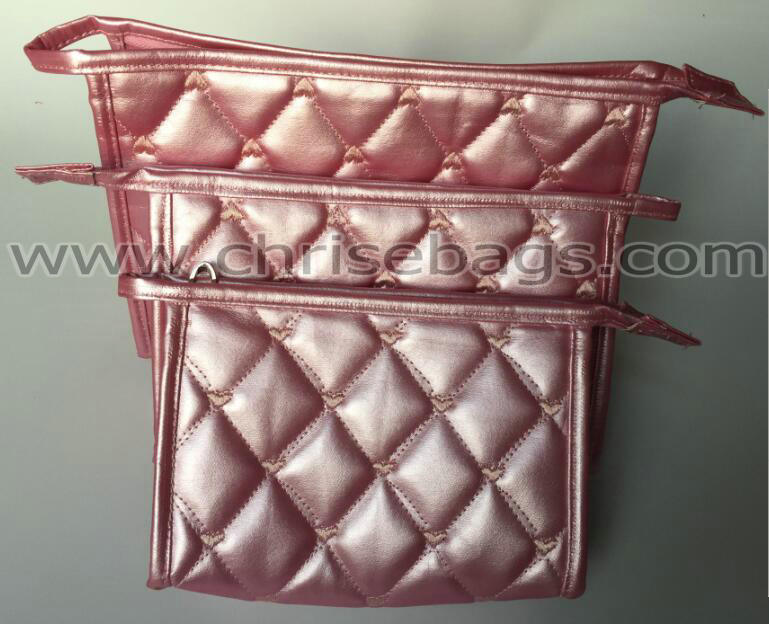 Set of PU Leather Promotion Cosmetic Bag