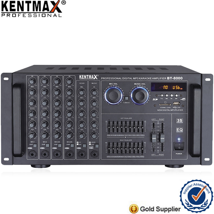 120W Short Protection Karaoke Audio Power Amplifier for Sale (BT-8000)