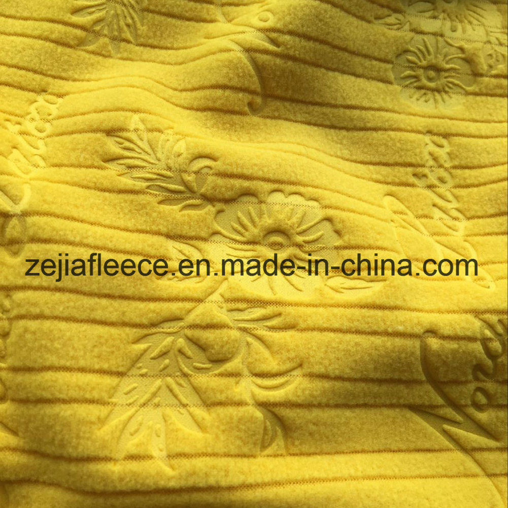 Embossed Mirco Fleece Fabric in Drop Needle