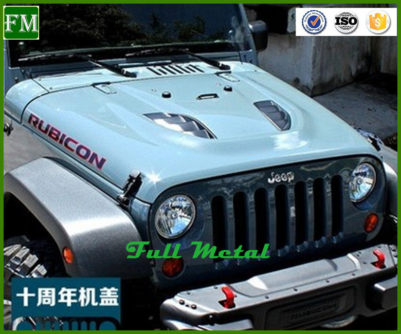 10th Anniversary Engine Hood Cover for Jeep Wrangler 2007-2015