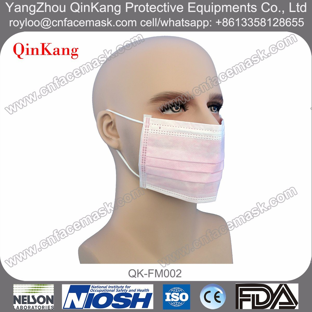 Disposable Surgical Nonwoven Earloop Face Mask
