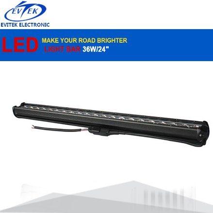 """6500k 63W 24"""" 12V LED Light Bar Spot Flood Combo Beam Offroad Work Light Driving LED Bar Light for Jeep ATV Trailer"""