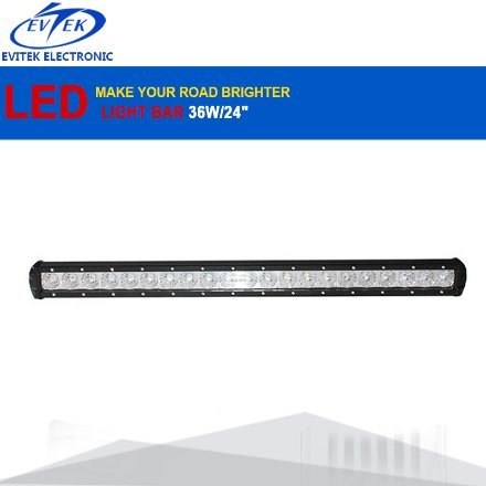 "6500k 63W 24"" 12V LED Light Bar Spot Flood Combo Beam Offroad Work Light Driving LED Bar Light for Jeep ATV Trailer"