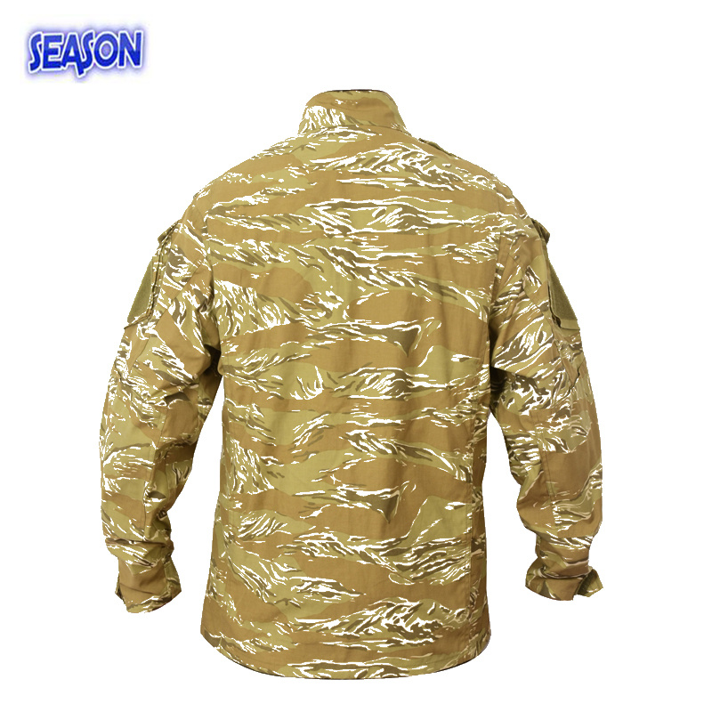 Reactive Printed Desert Camouflage Safety Jacket Military Work Uniforms Clothing