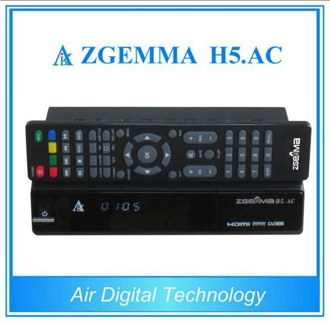 for Mexico/America Channels Digital TV Receiver Zgemma H5. AC Linux OS Enigma2 DVB-S2+ATSC H. 265/Hevc Two Tuners
