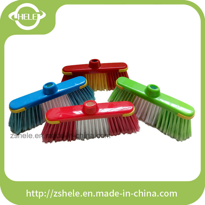 Soft Bristle Plastic Broom (HLC1322B)