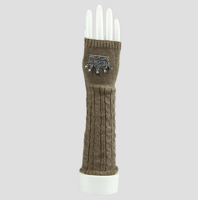 Women′s Knit Fingerless Winter Gloves