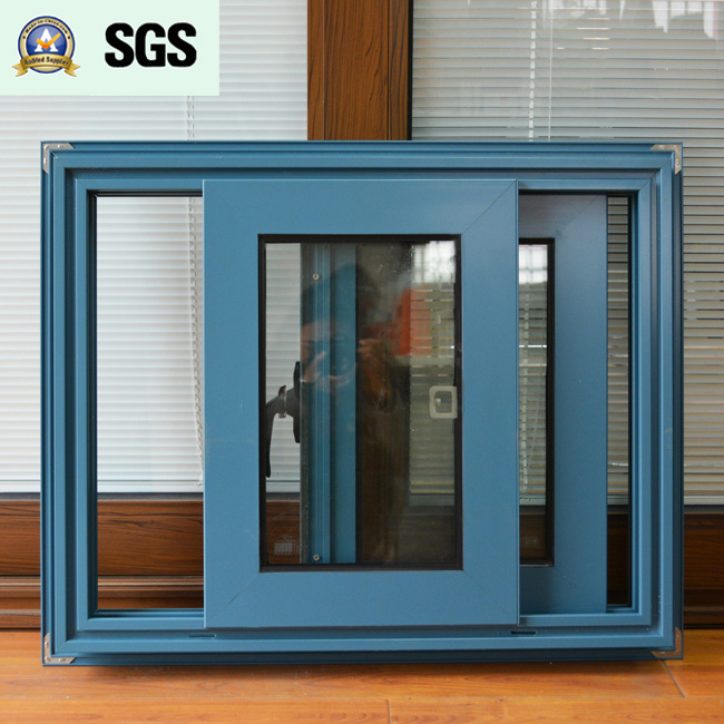 Australia Style Powder Coated Aluminum Sliding Window K01058