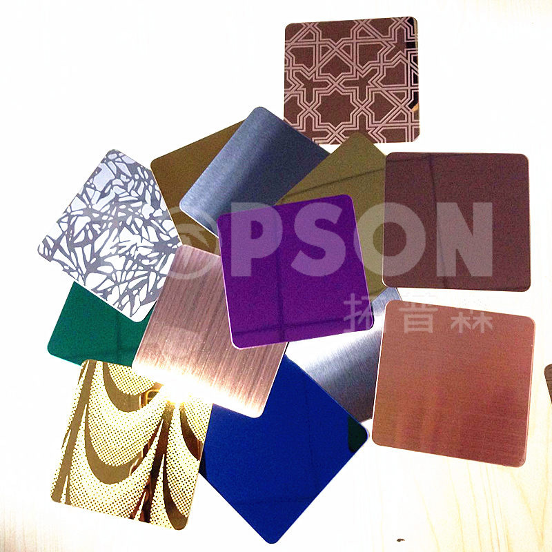 Stainless Steel Sheet for Decoration No. 4 Satin Hairline Finish PVD