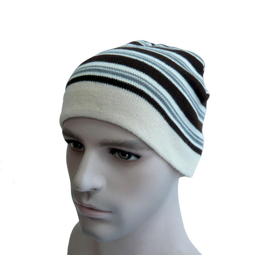 Multi Color Striped Warm Beanie Hat