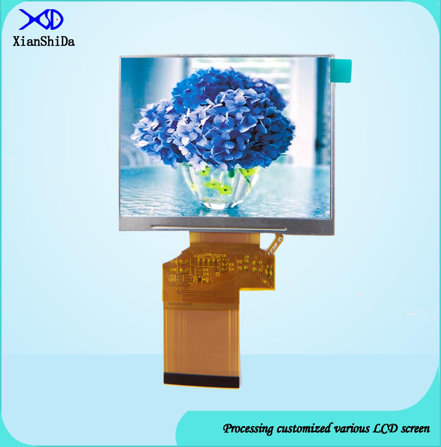 3.5 Inch LCD Screen 780CD/M2 High Luminance TFT LCD Display Module with 24 Bit RGB Interface