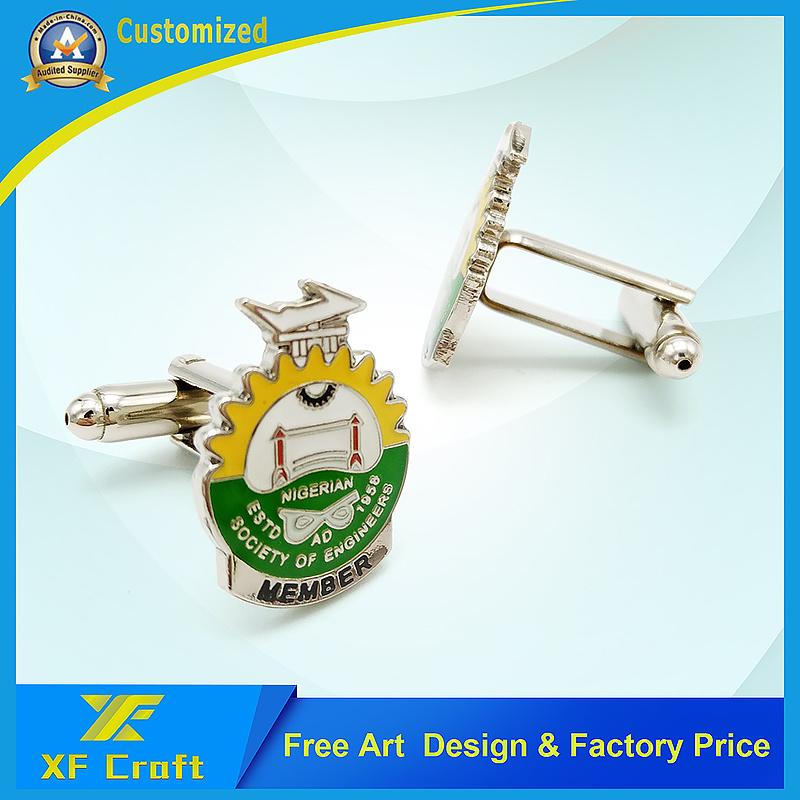 Customized Metal Brass Blank Tie Bar with Soft Enamel Craft (XF-TB03)