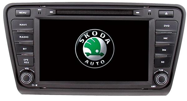 Wince 6.0 Mtk3360 Solution OE-Fit Car GPS for Skoda Octavia 2014 with Bluetooth FM Am USB DVD iPod DVB-T