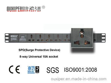 8-Way Universal 10A Socket Aluminum Alloypdu (XP-1U-B2FQ8LH)